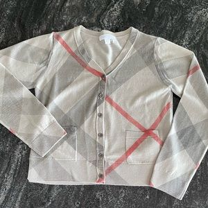 Burberry Classic Check Wool/Cashmere Cardigan